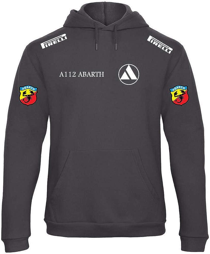 Sweats /à Capuche Fiat Abarth A112 Autobianchi Moto Rally Racing Course Rallye Pull personnalis/é Homme Sweatshirt Noir MAX19