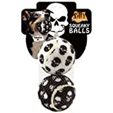 Silly Squeakers Large Tennis Balls, Skull, 2-Pack, My Pet Supplies