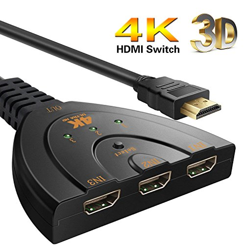 HDMI Switch 4K, YuanGao 3 Port