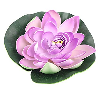 Amazon.com : eDealMax La Flor Artificial de la decoración de espuma estanque de jardín peces de acuario tanque flotante de Lotus : Pet Supplies