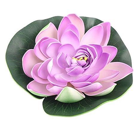 Amazon.com : eDealMax La Flor Artificial de la decoración de espuma estanque de jardín peces de acuario tanque flotante de Lotus : Pet Supplies