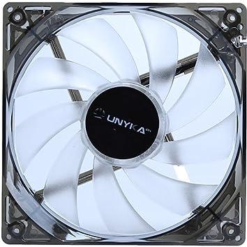 UNYKAch 51793 Carcasa del Ordenador Ventilador - Ventilador de PC (Carcasa del Ordenador, Ventilador, 12 cm, 1200 RPM, 19 dB, Blanco)