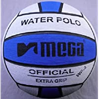 Mega, pallone da pallanuoto, blu e bianco, misura 4, per le donne e i più giovani