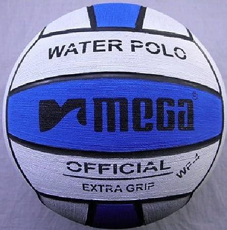 Pelota de waterpolo Mega, en blanco y azul, tamaño número 4: Para ...