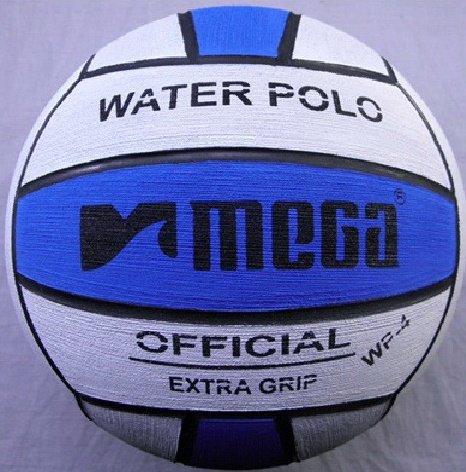 Mega, pallone da pallanuoto, blu e bianco, misura 4, per le donne e i più giovani Megasport