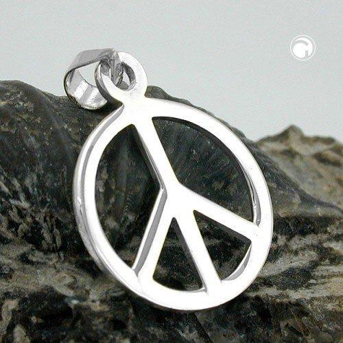 f3456cc1f0be Anhänger, Peace-Zeichen, Silber 925  Amazon.de  Schmuck