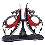 Fantasy Master Dragons Blade Display with Wood Plaque