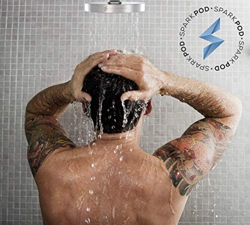 SparkPod Shower Head - High Pressure Rain - Luxury Modern Chrome Look - Easy Tool Free Installation - The Perfect Adjustable Replacement For Your Bathroom Shower Heads 7