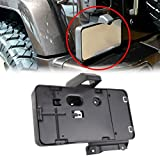 license plate frame clips - MINGLI Black Rear License Plate Holder Frames Bracket For 2007-2016 Jeep Wrangler JK License Plates Mounting Bracket