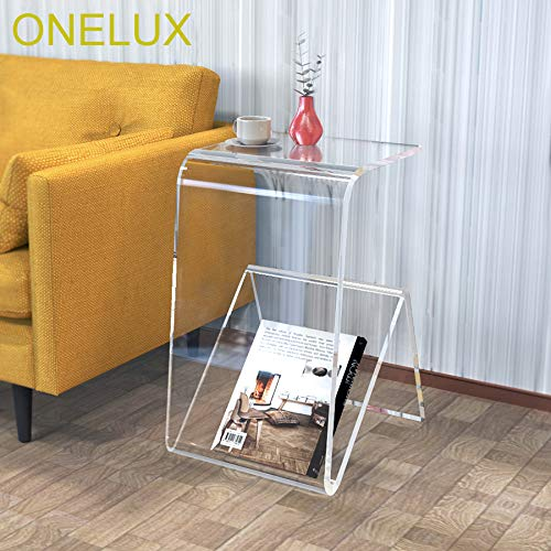 Magazine Craftworks - ONELUX Clear Acrylic Occasional/Sofa /Side/Tea /Magazine Tables
