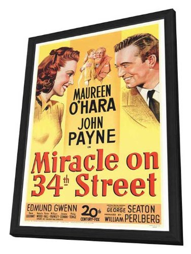 Miracle On 34th Street - 27 x 40 Framed Movie - Broadway Street And 34th