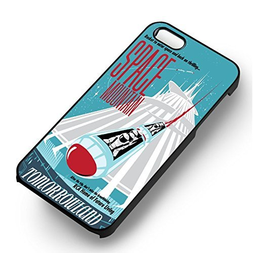 Space Mountain for Cover Iphone 6 and Cover Iphone 6s Case (Black Hardplastic Case) G7X7FI