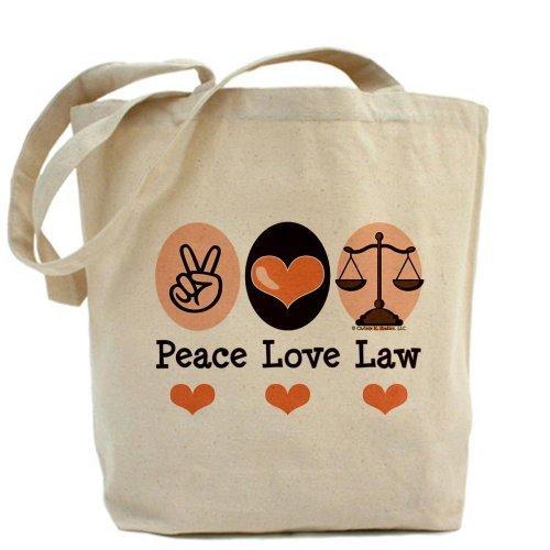 CafePress Peace Love diritto scuola avvocato Tote Bag–Standard Multi-color da CafePress