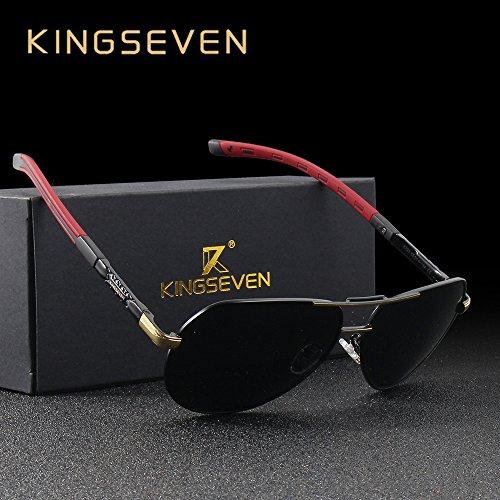 8886ffdf01 KINGSEVEN Brand Aviator Polarized Sunglasses Fashion Design For Men ...
