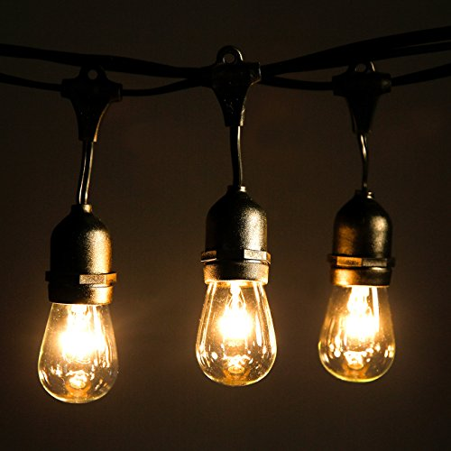 Outdoor string lights with 10 dropped sockets shine hai Outdoor string lighting