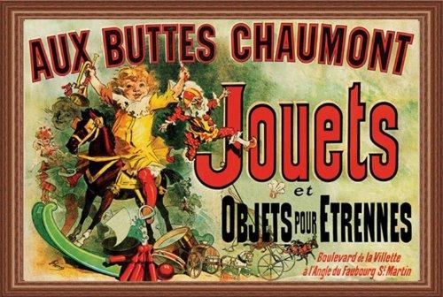 "buyartforless Framed "" Jouets (Vintage Ad, As Seen On Friends) Art Poster Print Vintage Advertising 19Th Century, 36"" X 24"""