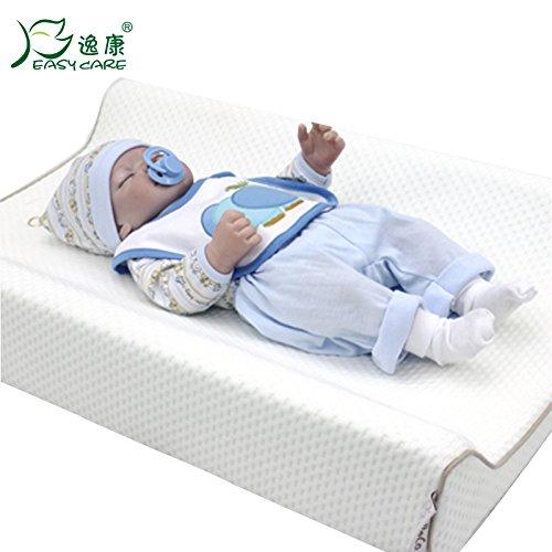 Memory Foam Baby Anti-Vomit Cushion Triangle Pad Newborn Infant Anti-Choking Milk Maternal- Child Nursing Pillow Mattress Ramp Triangle Pad Baby Diaper Table Matelas Pour Bébé