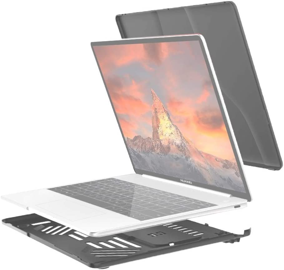 with Stand /& Handle Split Waterproof PC Crystal Laptop Protective Case for Huawei MateBook 13 inch Color : White