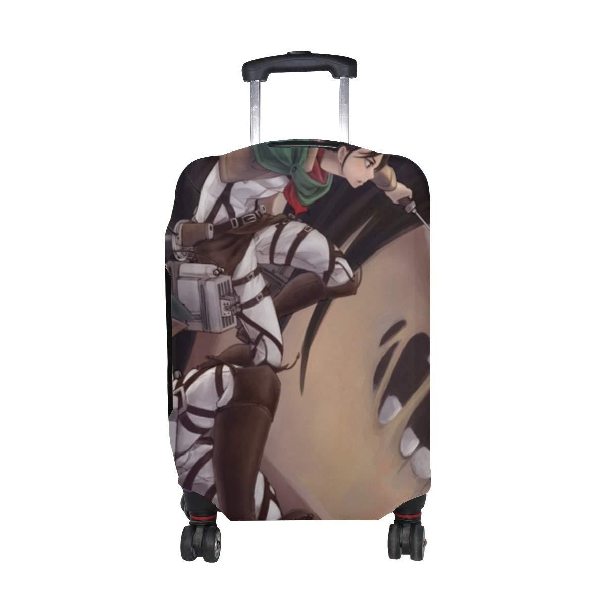 Maxm Shingeki No Kyojin Art Sora Tsu Anime Pattern Print Travel Luggage Protector Baggage Suitcase Cover Fits 18-21 Inch Luggage