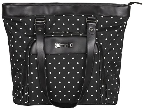 Kenneth Cole Reaction Dot Matrix 600d Polka Dot Polyester 15.6 Top Zip Travel Tote, Black