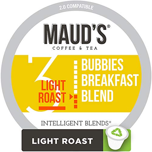 (Maud's Breakfast Blend Coffee, (Bubbies Breakfast Blend), 100ct. Recyclable Single Serve Coffee Pods - Richly satisfying arabica beans California Roasted, k-cup compatible including 2.0)