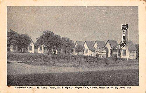 niagara-falls-canada-slumberland-cabins-big-arrow-sign-antique-postcard-k15401