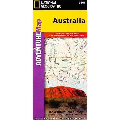 Australia (National Geographic Adventure Map) - 514abuJ4yML. SS500 - Getting Down Under Travel Guides