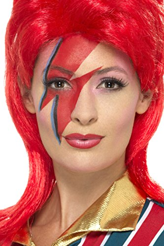 Bowie Ziggy Stardust Costume (Space Superstar Make Up Kit, with Face Paints)