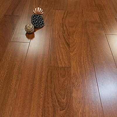 "Brazilian Cherry Prefinished Engineered 5"" x 1/2"" Wood Flooring w/3mm Wear Layer Samples at Discount Prices by Hurst Hardwoods"