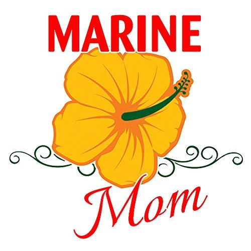 (Marine Mom Clear Decal)