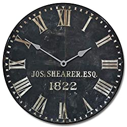 1822 Old Sheriffs Wall Clock, Available in 8 Sizes, Most Sizes Ship 2-3 Days,