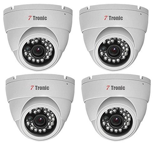 540tvl Waterproof Ir Camera - 7 Tronic Security Cameras CCTV Surveillance 4 Dome 1000TVL 24IR 3.6mm Fixed Lens Sony Exmor 960H Waterproof