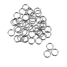 HOUSWEETY Stainless Steel Jewelry Finding 1000pcs Silver Tone Open Jump Rings Connectors 5mmx0.6mm