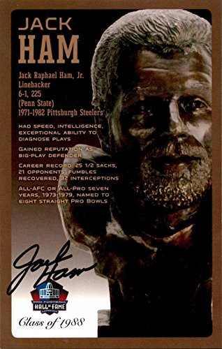 Jack Ham Penn State Steelers Signed NFL Hall Of Fame Bronze Bust Postcard /150 - NFL Cut Signatures ()