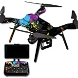 MightySkins Protective Vinyl Skin Decal for 3DR Solo Drone Quadcopter wrap cover sticker skins Splatter