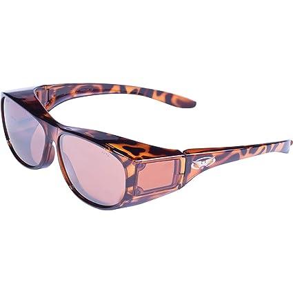 4b8938f193 Escort Fit Over Sunglasses ANZI Z87.1+ Safety Compliant Driving Mirror  Lenses - Safety Glasses - Amazon.com