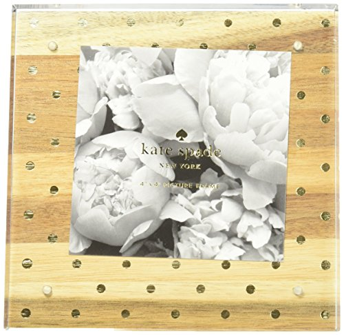 Kate Spade Acrylic Picture Frame, Wood & Gold Dots, Multi (175230) ()