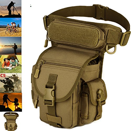 LarKoo Outdoor Gear Military Tactical Drop Leg Panel Util...