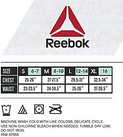 Amazon Com Reebok Girls Nylon Spandex Seamless Bralette With Removable Pads 4 Pack Clothing
