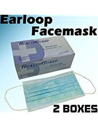 Buy 100 PC (2 BX) 3-Ply Blue Commercial Dental Surgical Medical Disposable Earloop Face Masks | FDA Registered & Approved! dispense