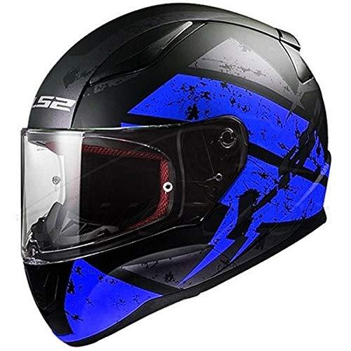 LS2 Helmets Motorcycles & Powersports Helmet's Full Face Rapid Deadbolt Matte Blue - Full Motorcycle Blue Face Helmet