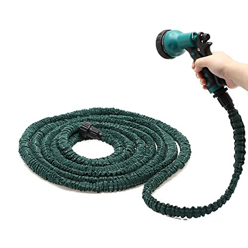 Deluxe 100 Feet Flexible Garden Water Hose Spray Nozzle Expandable