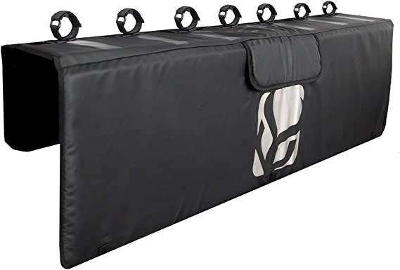 Demon Tailgate Pad for Mountain Bikes with Tool Pocket for Mechanic Tools/Tailgate Cover with Secure Bike Frame Straps