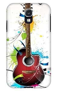 Case Fun Samsung Galaxy S4 (I9500) Case - Vogue Version - 3D Full Wrap - Guitar hjbrhga1544