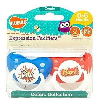 Amazon.com: Ulubulu Expresión Chupete 2 Pack – -comic ...