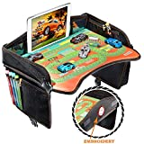 Smart Travel Tray – Ideal as Kids Travel Tray – Toddler Travel Tray & Baby Stroller Tray – Travel Activity Tray & Play Tray – Baby Snack Tray & Kid's Car Seat Tray - Play Table (Premium Black)
