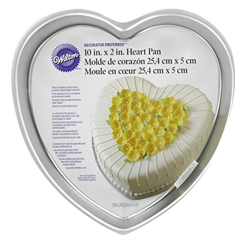 Wilton Decorator Preferred 10-Inch Heart Shaped Cake Pan - Heart Non Stick Cake Pan