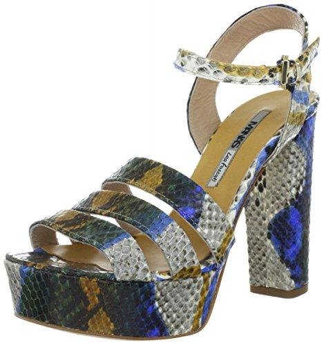 MANAS portofino - Sandalias de vestir de Piel Lisa para mujer Azul Bluette Azul - Bluette