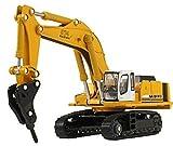 Happy Cherry Hydraulic Excavator H120E Hydraulic Hammer 1/87 Scale Diecast Model Toy Car
