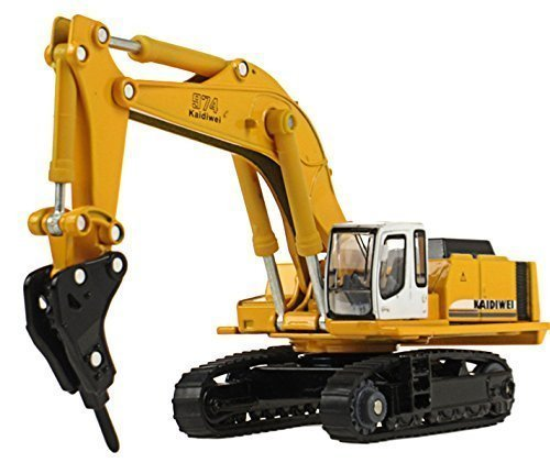 Happy Cherry Hydraulic Excavator H120E Hydraulic Hammer 1/87 Scale Diecast Model Toy ()